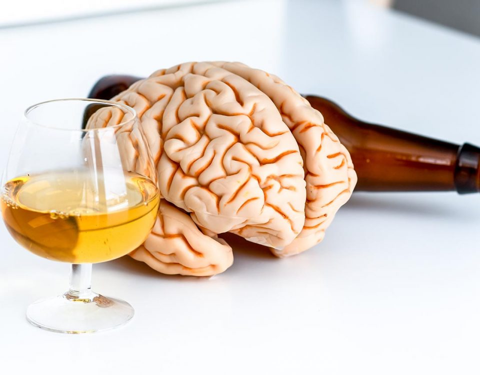 brain next to alcohol